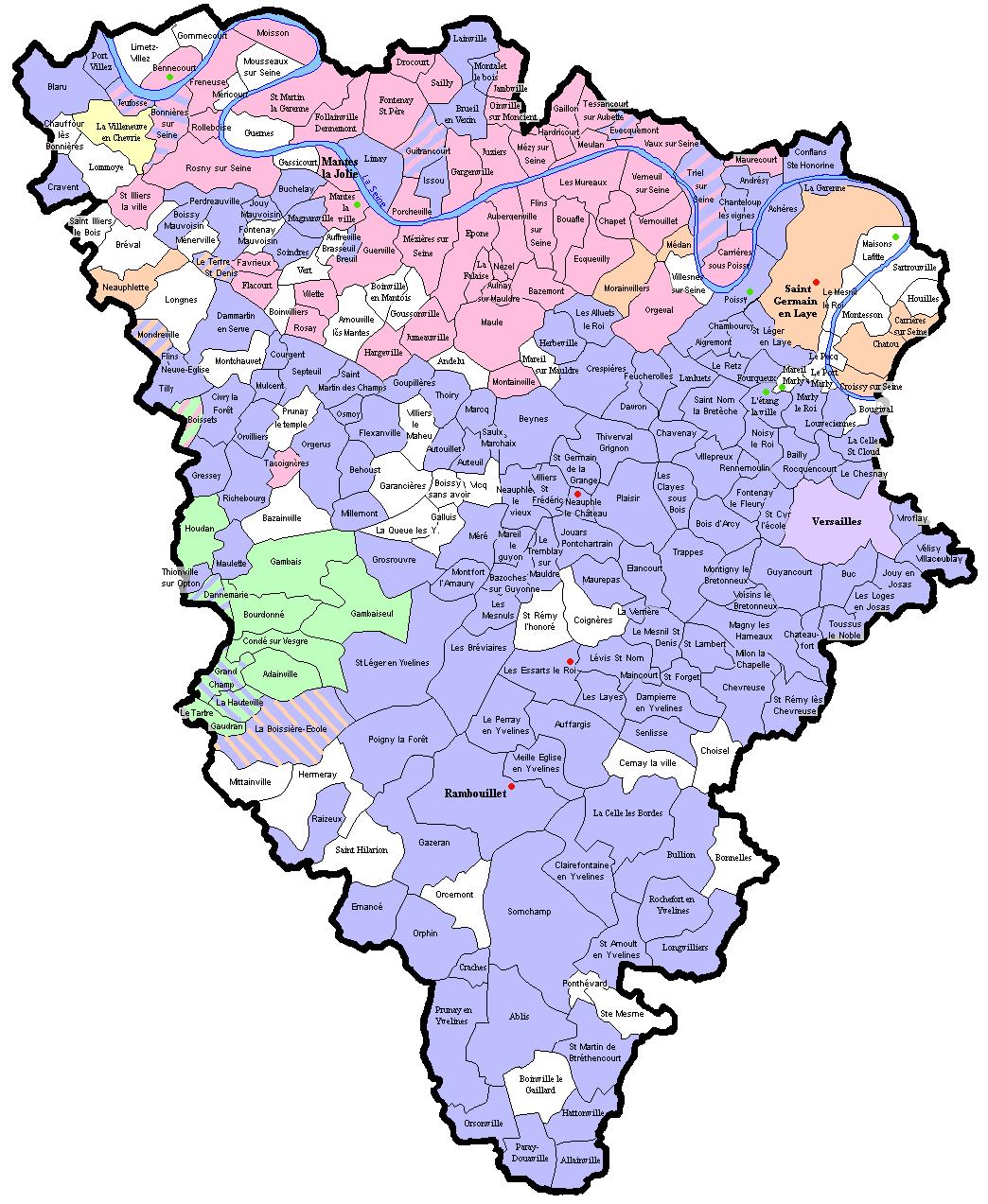 Carte des relev s des communes des yvelines wikigenweb for A voir dans les yvelines