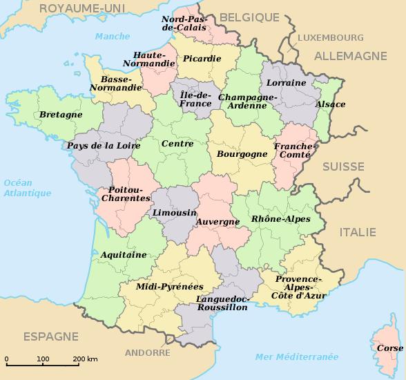 R gion fran aise wikigenweb - Region la plus sure de france ...